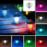 Magic Sun Solar Power LED Color Changing Globe Light Waterproof Floating Swimming Pool Party Decor