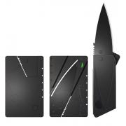 Credit Card Sized Folding Knife (Black Blade)