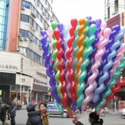 100PCS/Pack Multicolor Twist Spiral Latex Balloons