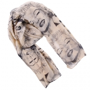 Fashion Marilyn Monroe Pattern Scarf