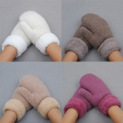 Fashion Solid Color Warm Knit Gloves