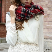 Fashion All-match Plaid Shawl Scarf