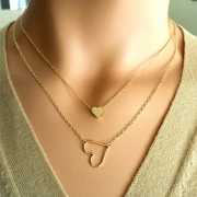 Fashion Layered Heart Necklace