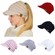Fashion Hollow Out Knit Peaked Cap