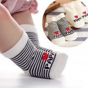 Cute Letters Heart Pattern Breathable Baby Socks  2 Pair/Set