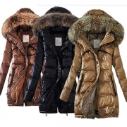 Fashion Solid Color Faux Fur Spliced Hooded Padded Coat(It falls small)