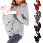Chic Style Long Sleeve Hooded Multifunctional Kangaroo Sweatshirt