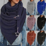 Fashion Solid Color Irregular Hem Scarf