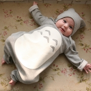 Cute Style Long Sleeve Round Neck Baby Jumpsuits