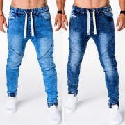 Fashion Elastic Waist Men's Jeans