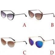 Retro Style Half-frame Sunglasses
