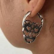 Retro Style Skull Head Shaped Earrings