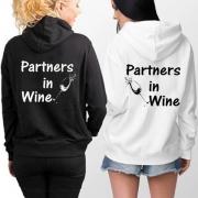 Besties Hoodie-Partners in Wine Hoodie with Long Sleeve