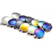 Unisex Vintage Arrow Metal Round Frame Sunglasses