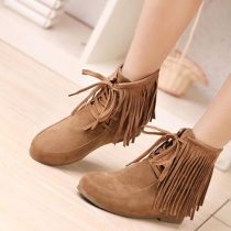British Style Retro Fringed Boot