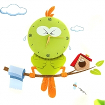 Lovely Owl Bird Home Decor 3D Clock