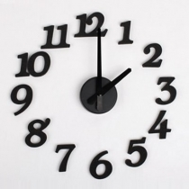 DIY Design Art Foam Sponge Digit Wall Clock