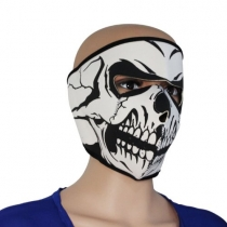 Neoprene Skull Full Face Reversible Motorcycle bicycle Mask