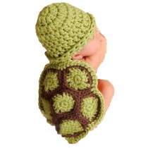 Baby Newborn Boy Girl Turtle Tortoise Crochet Cotton Knit Costume Photo