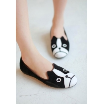 Street-chic Style Cute Cartoon Cat Dog Print Flats