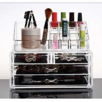 Makeup Organizer Luxury Cosmetics Acrylic Clear Case Storage Insert Holder Box