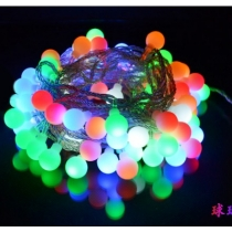 Linkable Color Changing LED RGB Ball String Christmas Xmas Lights Belt Light