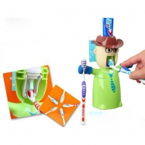 automatic Toothpaste Dispenser and Brushing Cup Set