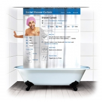 Creative Social Shower Curtain