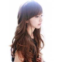 Classic Girls' Long Full Party Wig  (Light Brown)