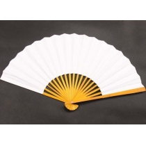 Elegant White Folding Fan
