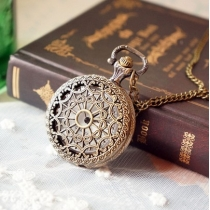 Vintage pattern hollow out pocket watch