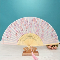 Cherry Silk Handheld Fan