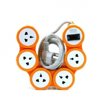 Pivot Power 5 Outlet Flexible Surge Protector Power Strip