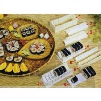10pcs/Set Sushi Maker Kit Rice Roll Mould Making
