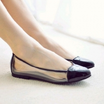 Love Heart Tone Sheer Summer Flat Loafer Slip On