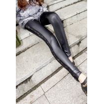 Stretchy Thin Sheer Black Crochet Lace Leggings Tights