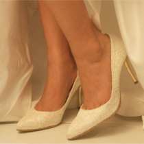Elegant Charm Lace Spliced Stiletto High-heeled Party Shoes