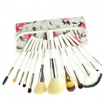Professional Vintage 12 pcs Cosmetic Makeup Brushes Set Kit with Flower Print Pouch