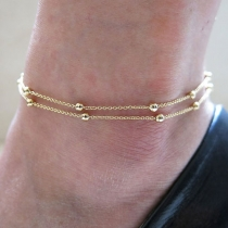Fashion Copper Beads Golden Colored Foot Ankle Chain Anklet Bracelet