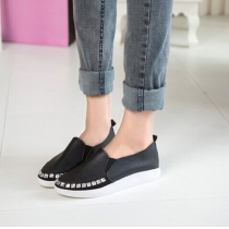 Fashion Rhinestone Slip On Flats Casual Women Shoes
