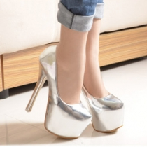 Sexy Super High-heeled Plarform Round Toe Pumps