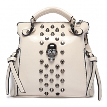 Retro Punk Skull Rivets Handbag Shoulder Bag Messenger Bag