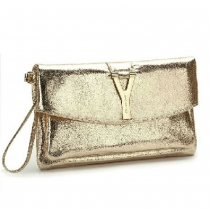 Fashion Fire Cracks Y Button Clutch Shoulder Bag