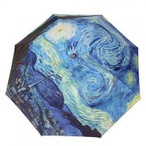 Starry Night / Sunset Print Folding Sun Umbrella