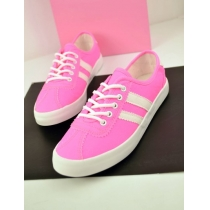 Leisure Candy Colors Lace-up Front  Canvas Shoes