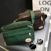 7 Colors Dots Pattern Small Canvas Bag Shoulder Messenger Bag