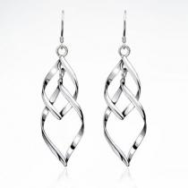 Elegant Leaf-shaped Twisted Earrings