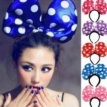 Cute Dots Mickey Bowknot LED Glowing Headband