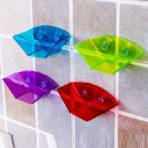 Multi Purpose Double Suction Cup Sink Shelf Drain Rack