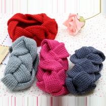 Fashion Solid Color Dough Twist Shaped Knit Headband